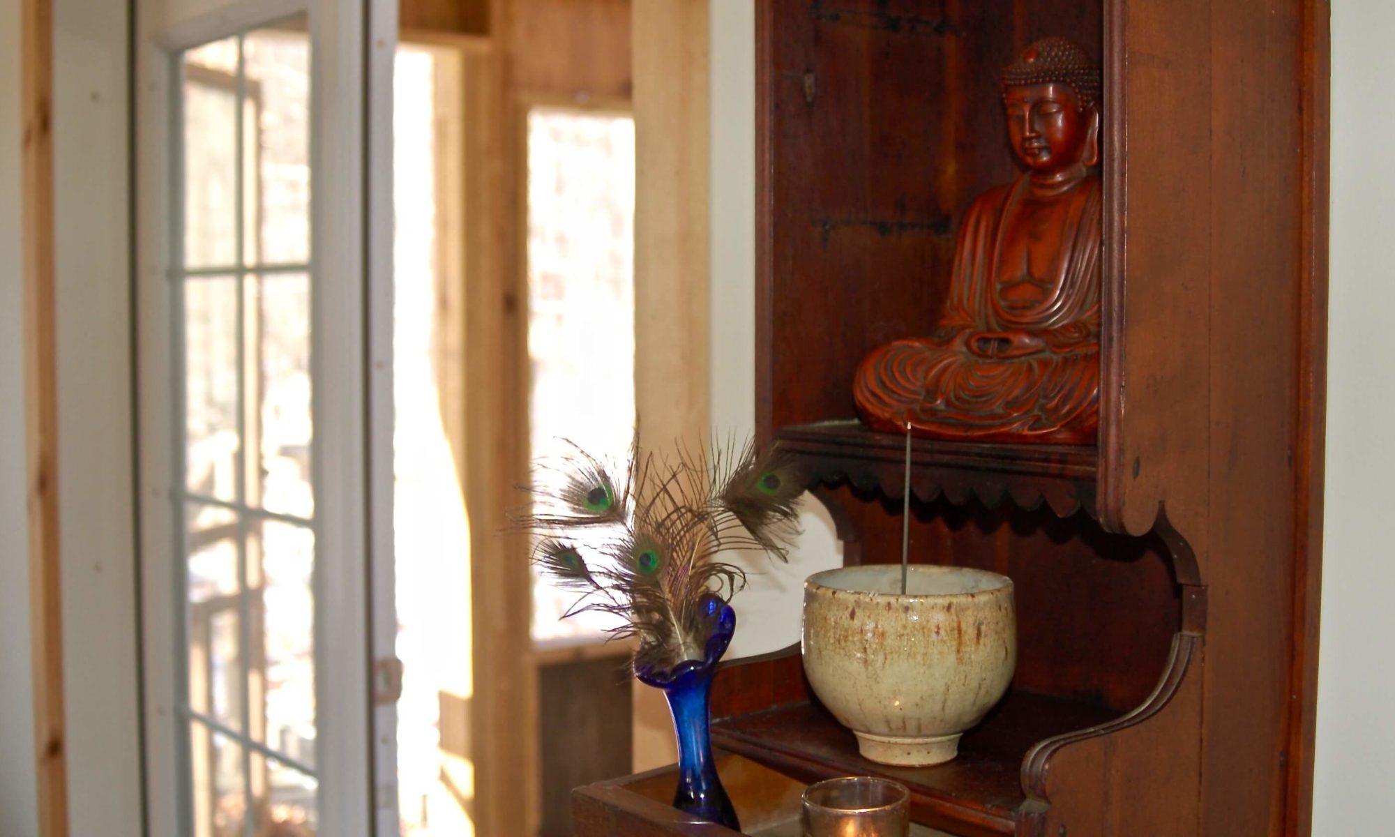 Ithaca Zen Center zendo interior butsudan