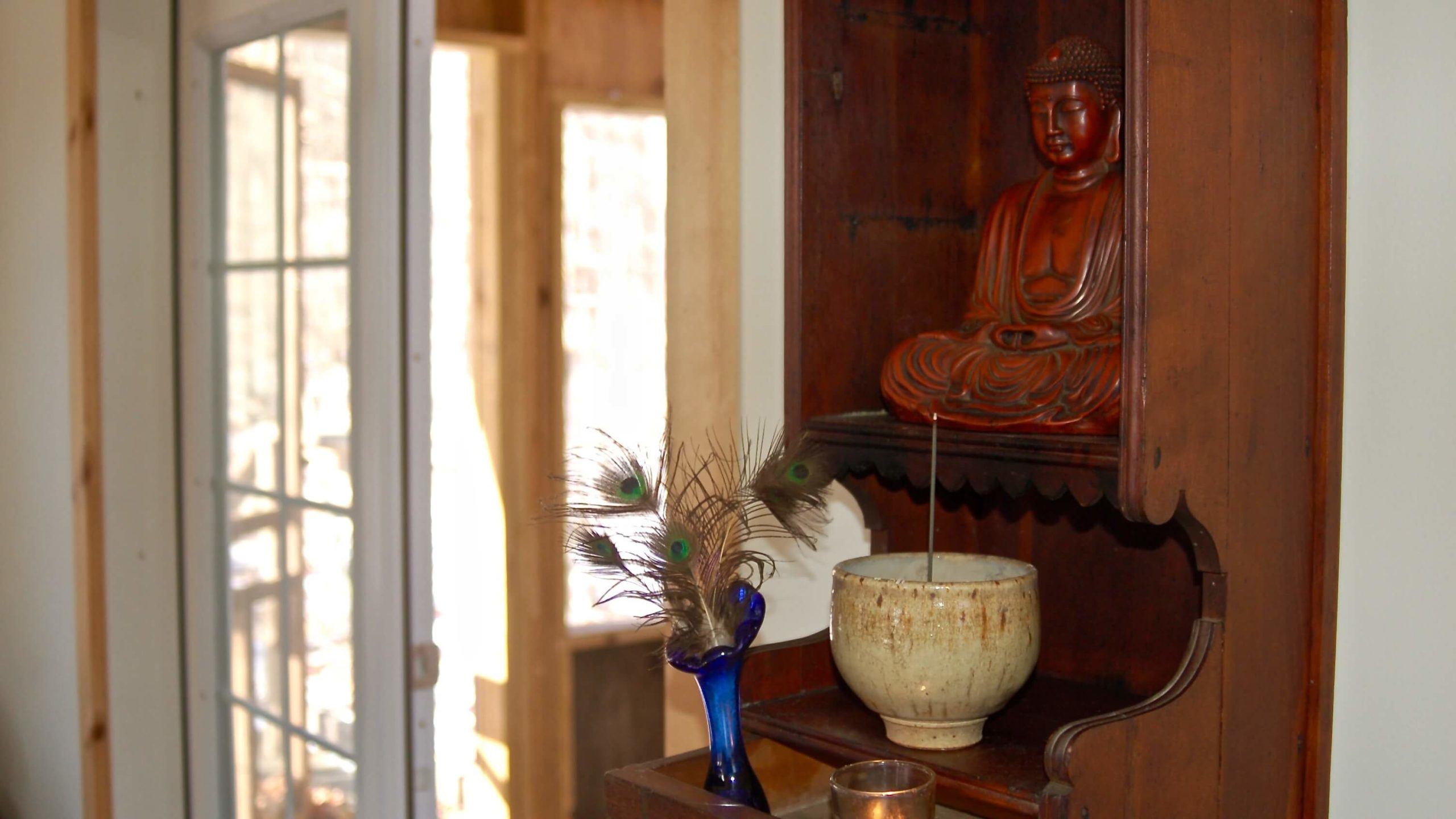 Ithaca Zen Center zendo interior butsudan