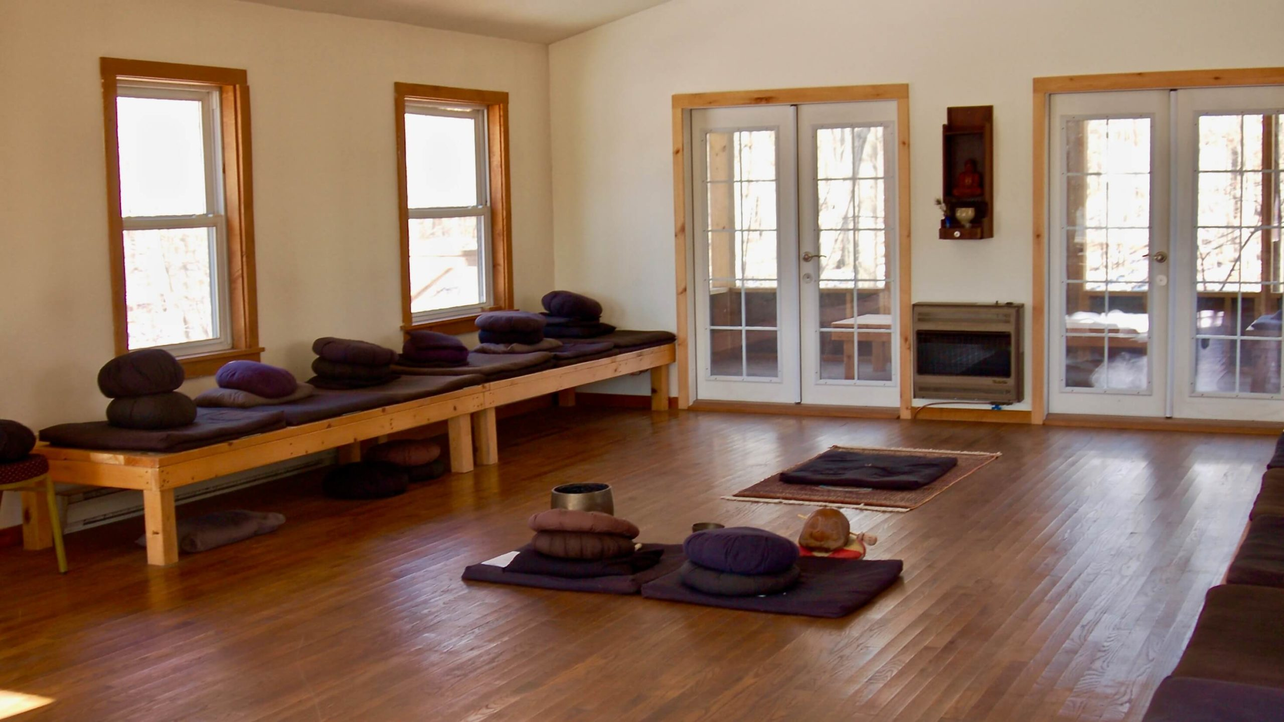 Ithaca Zen Center zendo interior 2
